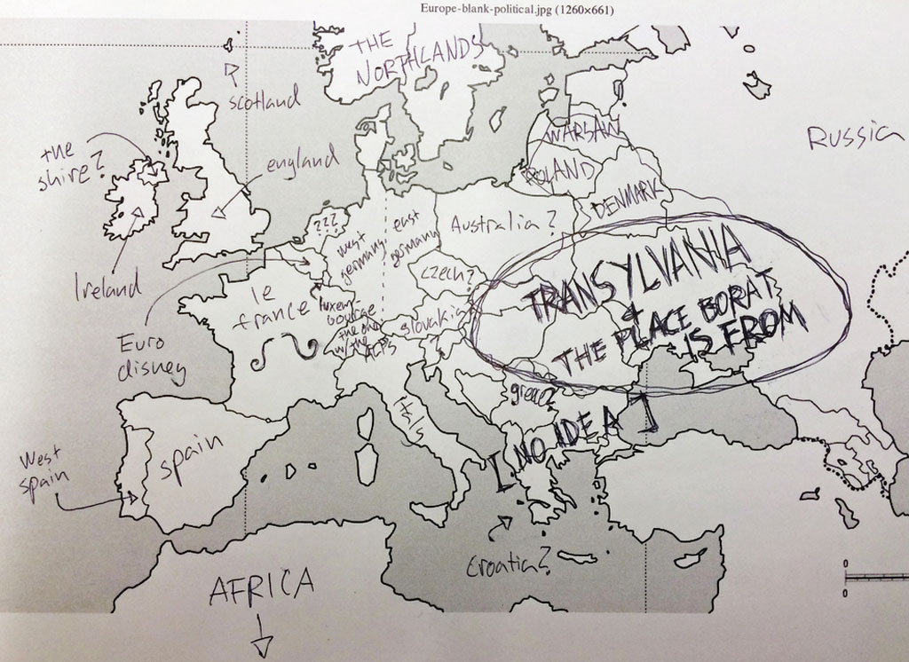 This Is What Happens When Americans Are Asked To Label Europe And - Blank world map label
