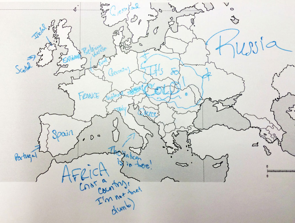 This is what happens when americans are asked to label europe and american students asked to label a map of europe 18 gumiabroncs Choice Image