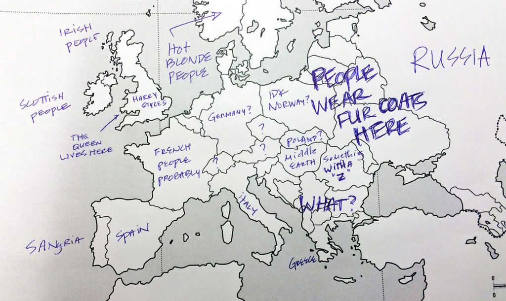 This is What Happens When Americans are Asked to Label Europe and Brits are A