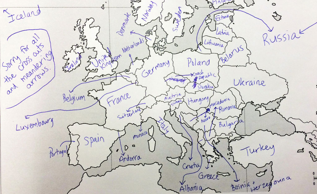 This is what happens when americans are asked to label europe and american students asked to label a map of europe 20 gumiabroncs Gallery