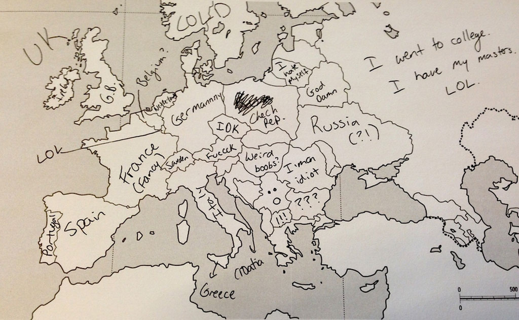 This Is What Happens When Americans Are Asked To Label Europe And - Us map according to foreigners