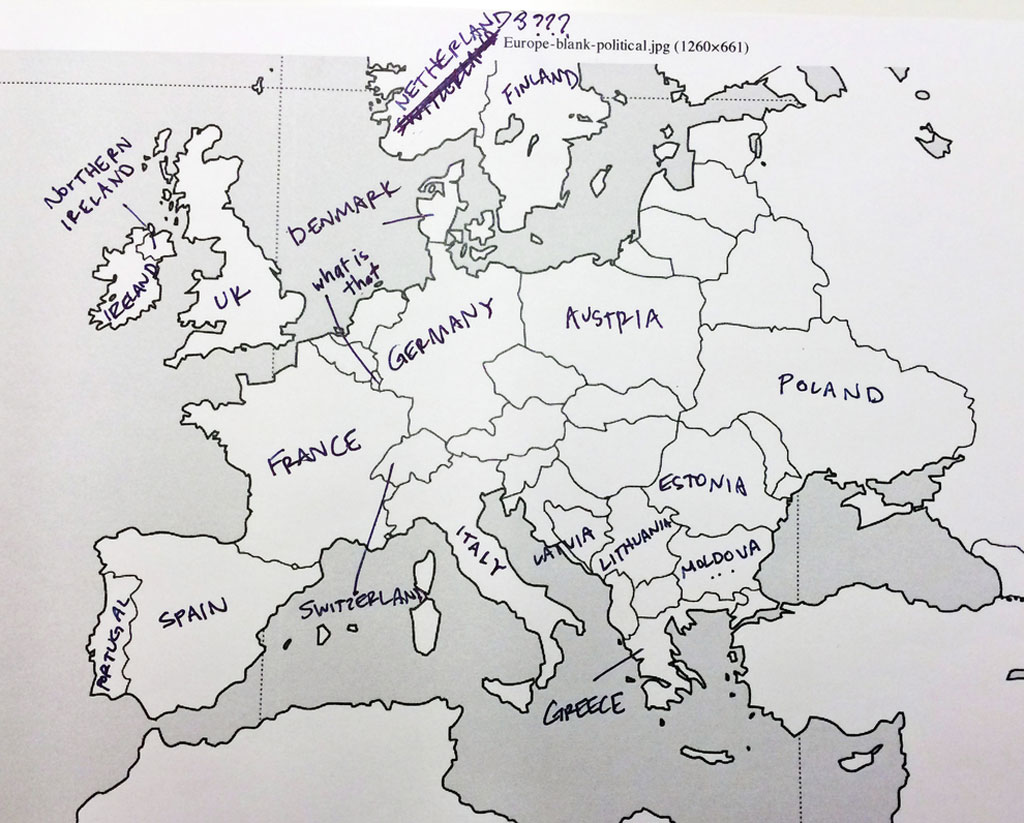 Europe according to American students