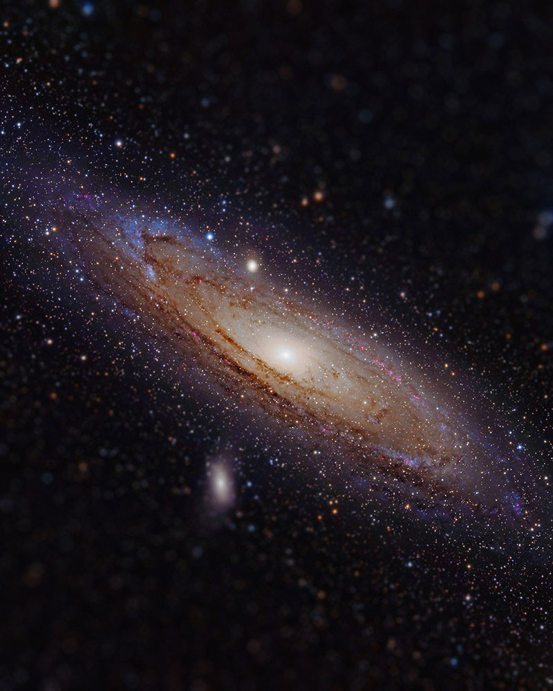 andromeda galaxy tilt shift miniaturized