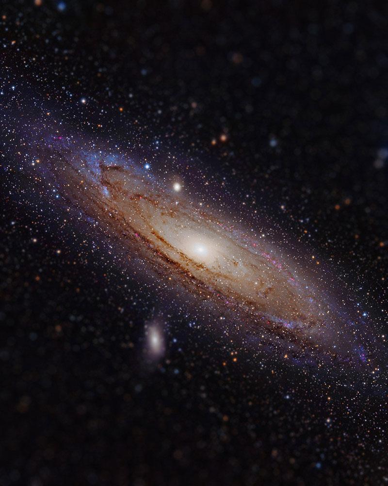 andromeda galaxy tilt shift miniaturized
