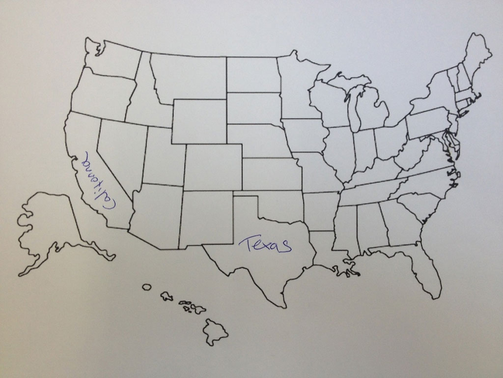 This Is What Happens When Americans Are Asked To Label Europe And - Sketch drawing us with states map