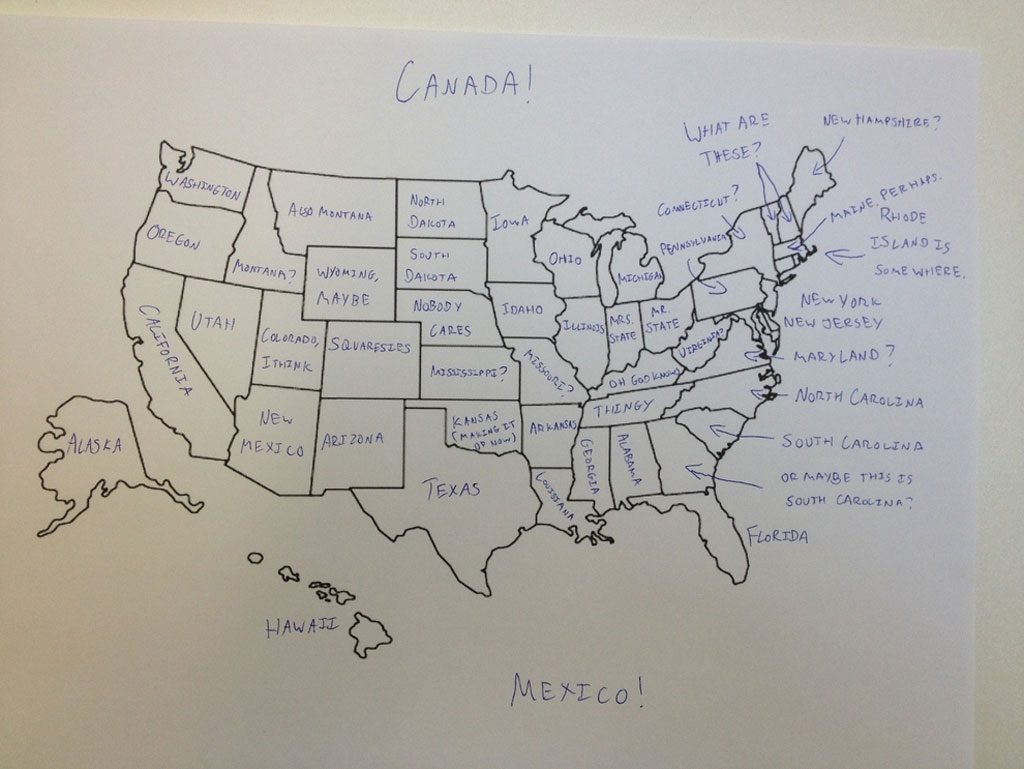 british students asked to label a map of the united states (5)