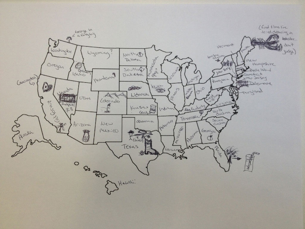 This Is What Happens When Americans Are Asked To Label Europe And - Us map labeled states