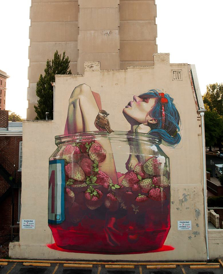 etam cru bezt sainer street art murals best of 2013 1 15 Hyperrealistic Street Art Portraits by MTO