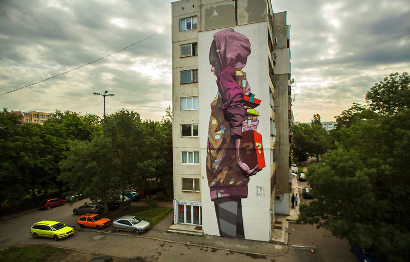Etam cru s best building sized murals of 2013 twistedsifter for Best mural artist