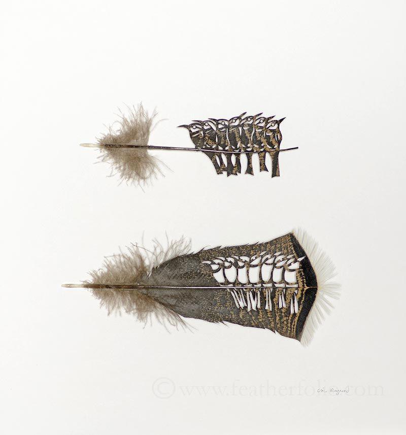 feather cutting art by chris maynard featherfolio 3 The Amazing Balloon Animals of Masayoshi Matsumoto (15 Photos)
