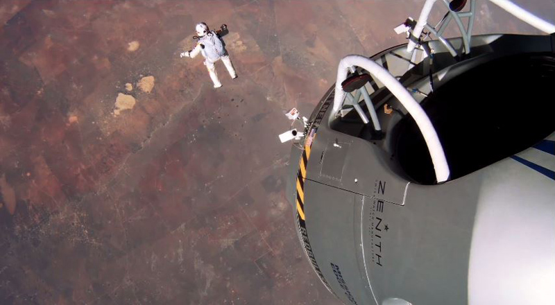 GoPro Just Released New HD Footage of Felix Baumgartner's Space Jump and it's Insane