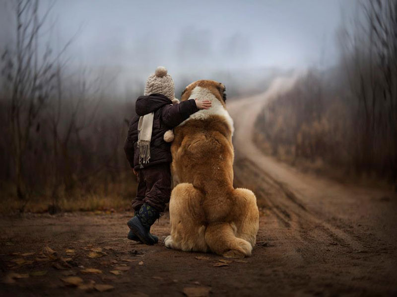 mother takes touching portraits of sons with animals elena shumilova (5)