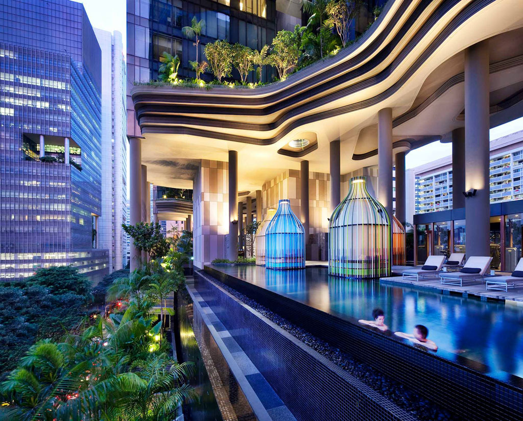 This hotel in singapore has the coolest sky gardens ever for Sky design hotel