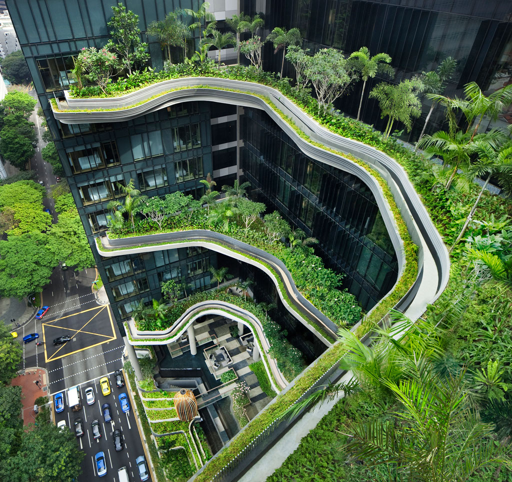Parkroyal on pickering hotel singapore skygardens by woha 9