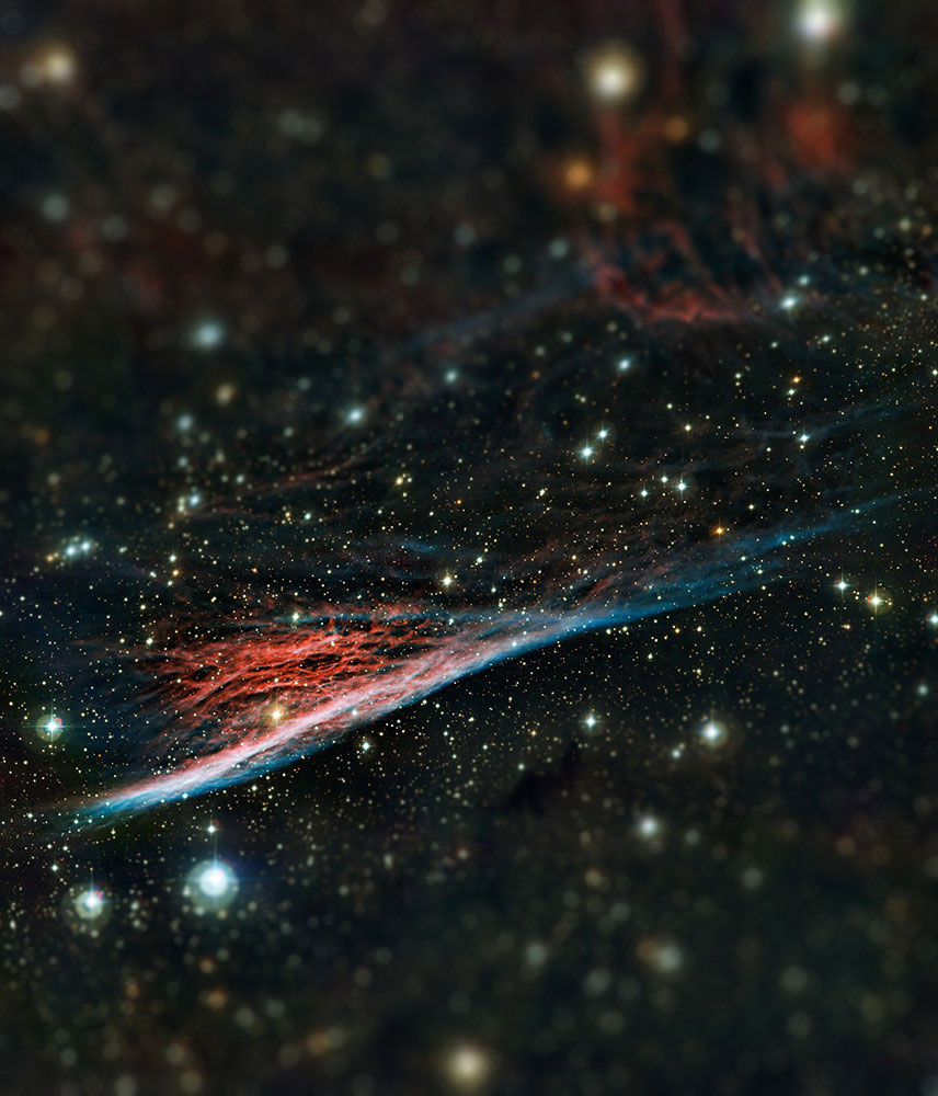 pencil nebula tilt shift miniaturized