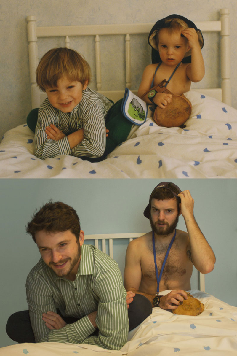 two brothers recreate childhood photos joe luxton (2)