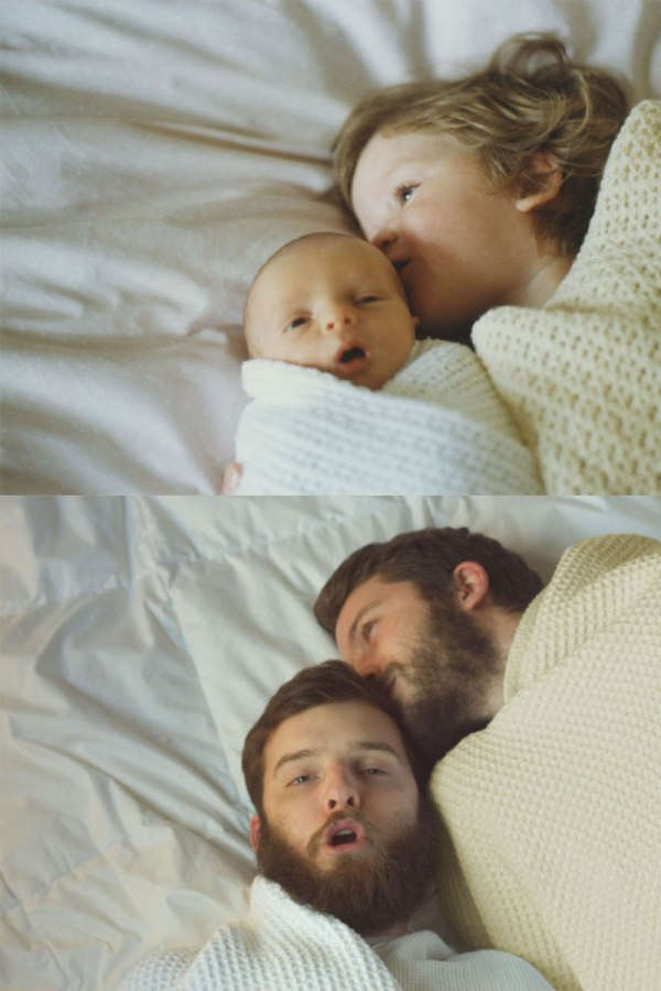 two brothers recreate childhood photos joe luxton 8 Side by Side Photos of Parents and their Kids at the Same Age