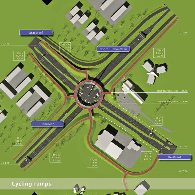 World's First Suspended Bicycle Roundabout hovenring by ipv delft netherlands (11)