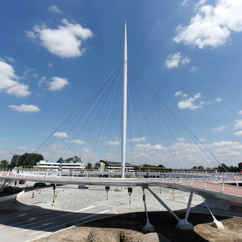 World's First Suspended Bicycle Roundabout hovenring by ipv delft netherlands (12)