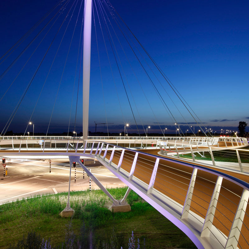 World's First Suspended Bicycle Roundabout hovenring by ipv delft netherlands (4)