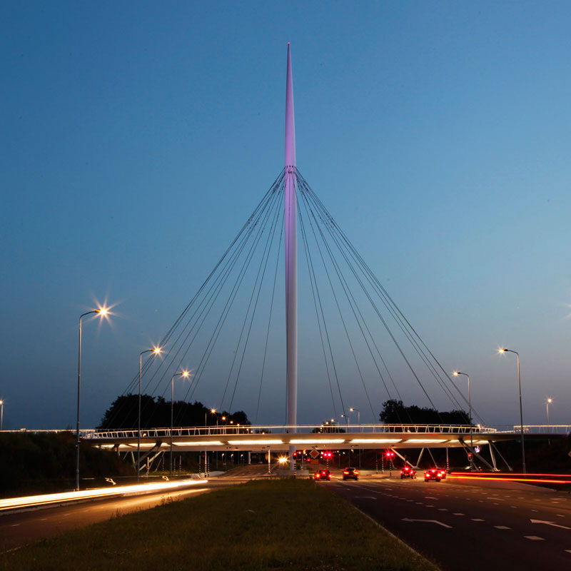 World's First Suspended Bicycle Roundabout hovenring by ipv delft netherlands (8)