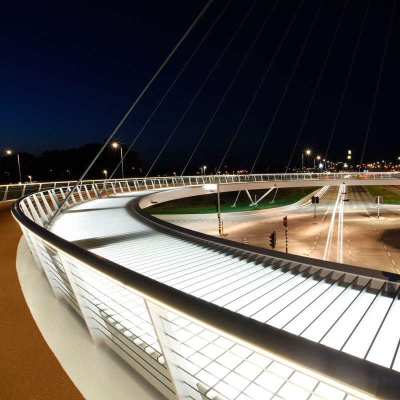World's First Suspended Bicycle Roundabout hovenring by ipv delft netherlands (9)