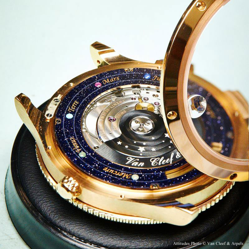 wristwatch shows solar system planets orbiting around the sun (7)