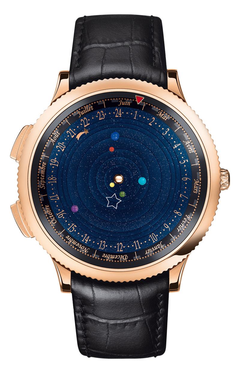 wristwatch shows solar system planets orbiting around the sun (9)