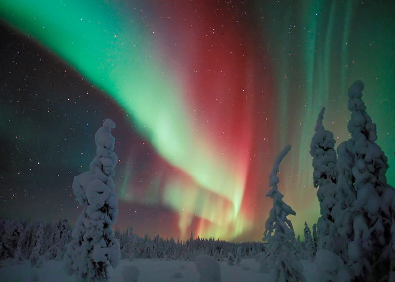 Lovely NORTHERN LIGHTS IN NORTHERN FINLAND. Aurora Borealis Lapland Finland Pictures