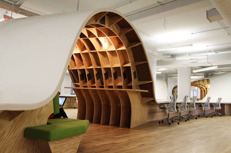 the office super desk. Barbarian Group Nyc Superdesk One Giant Office Desk By Clive Wilkinson Architects Machineous (3) The Super