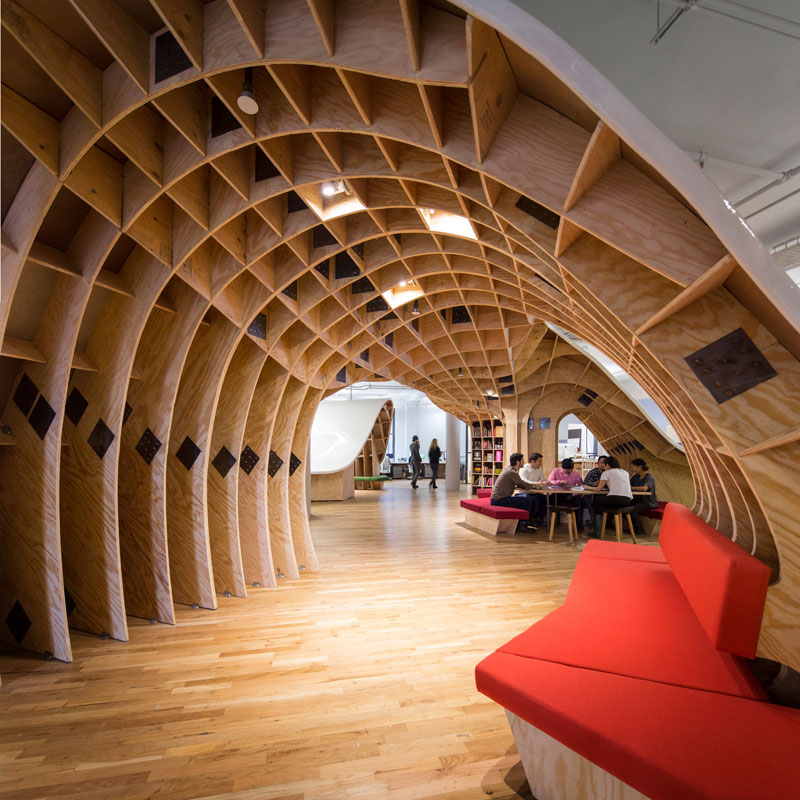 barbarian group nyc superdesk one giant office desk by clive wilkinson architects machineous (7)