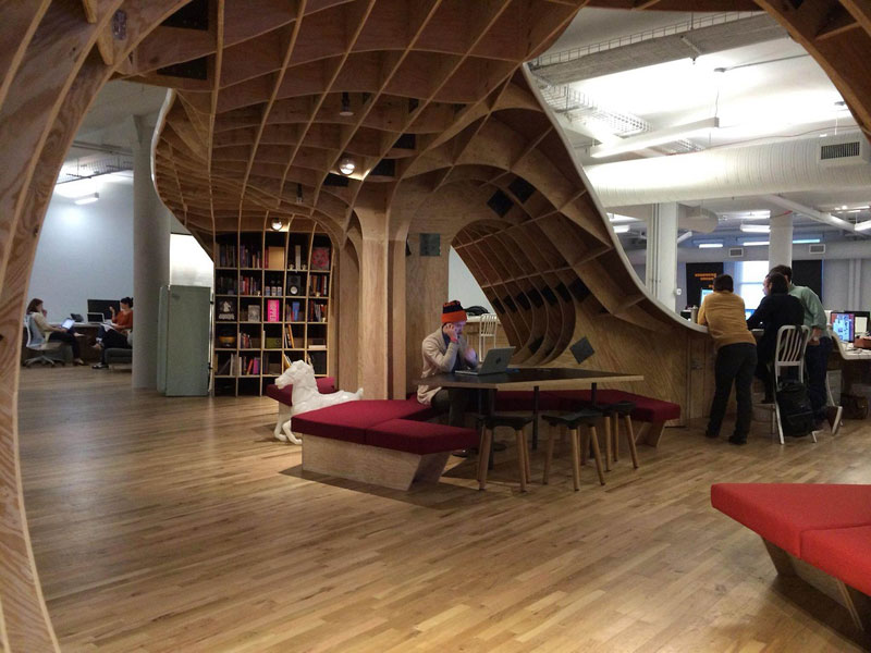 the office super desk. Barbarian Group Nyc Superdesk One Giant Office Desk By Clive Wilkinson Architects Machineous (8) The Super