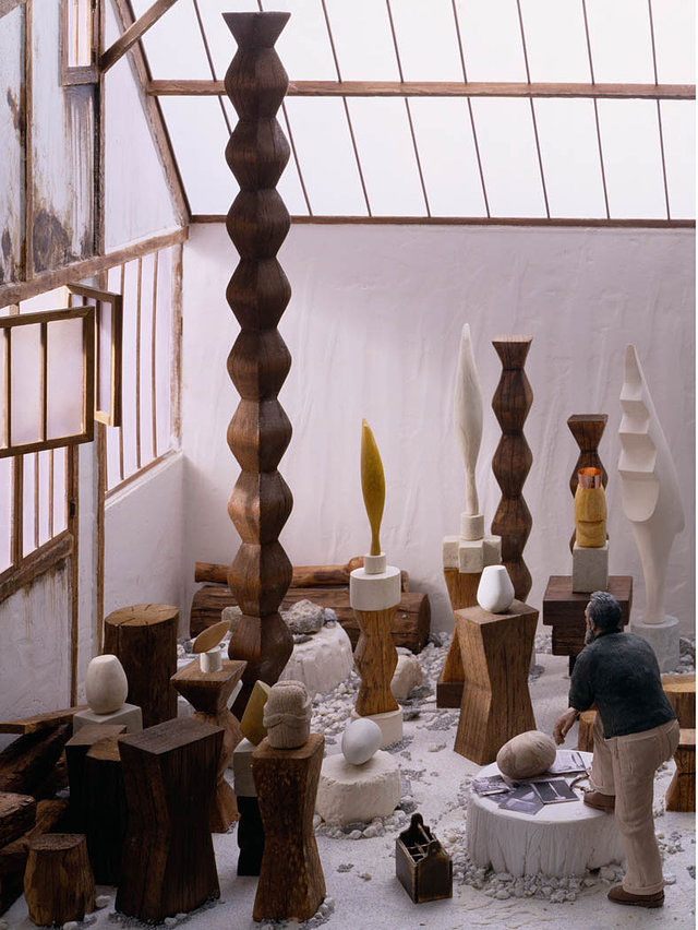 brancusi in studio miniature model diorama by joe fig