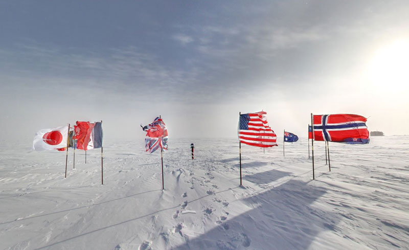 Exploring Antarctica with Google Street View