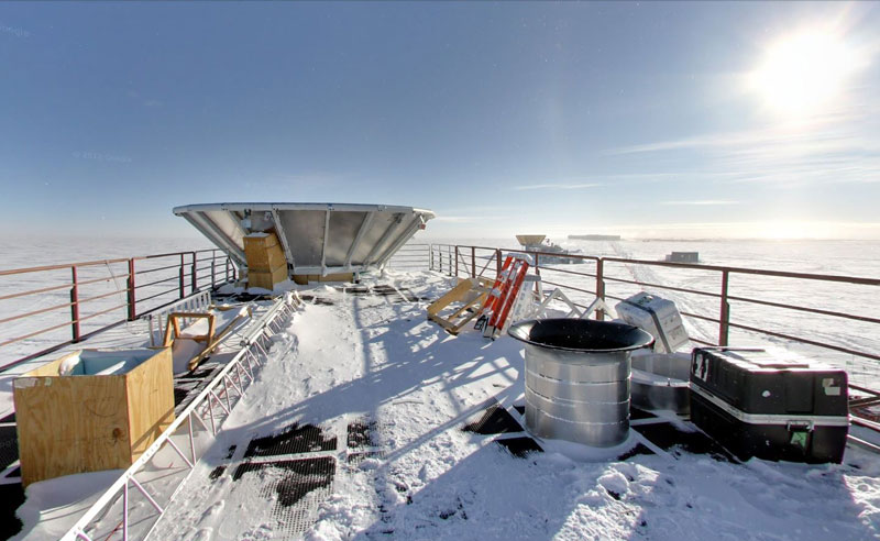 dark sector laboratory south pole antarctica Exploring Antarctica with Google Street View