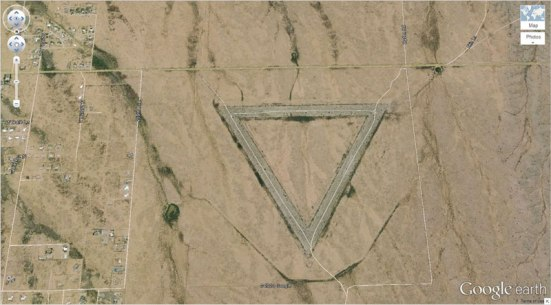 giant triangle google earth