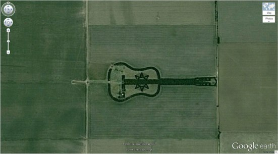 guitar-forest google earth