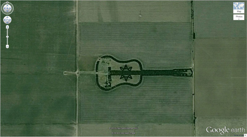 guitar forest google earth 17 Satellite Photos Around the World that Will Change Your Perspective