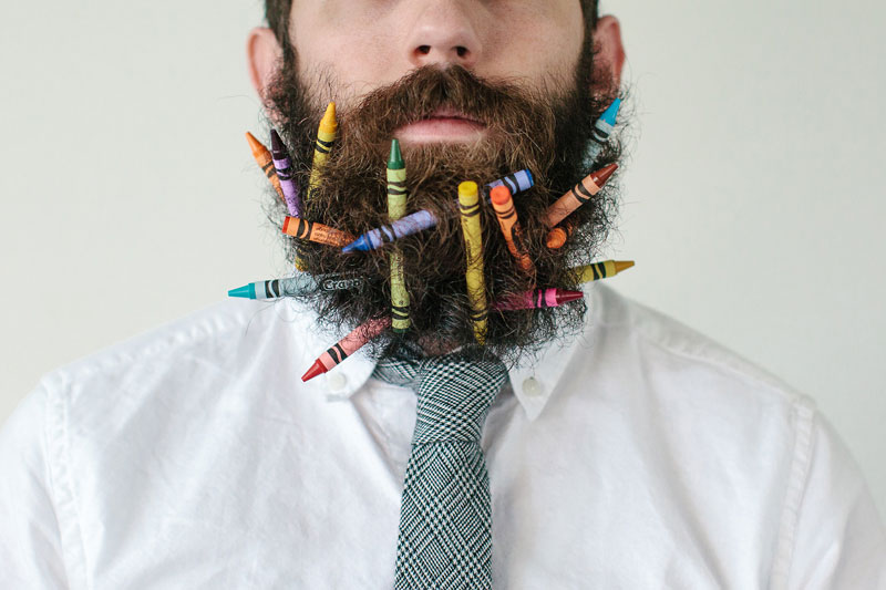 This Guy Takes Photos with Random Things in his Beard because He Can ... Most Epic Picture Ever Taken