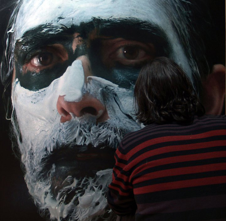 hyperrealistic self portraits paint on face by eloy morales (1)