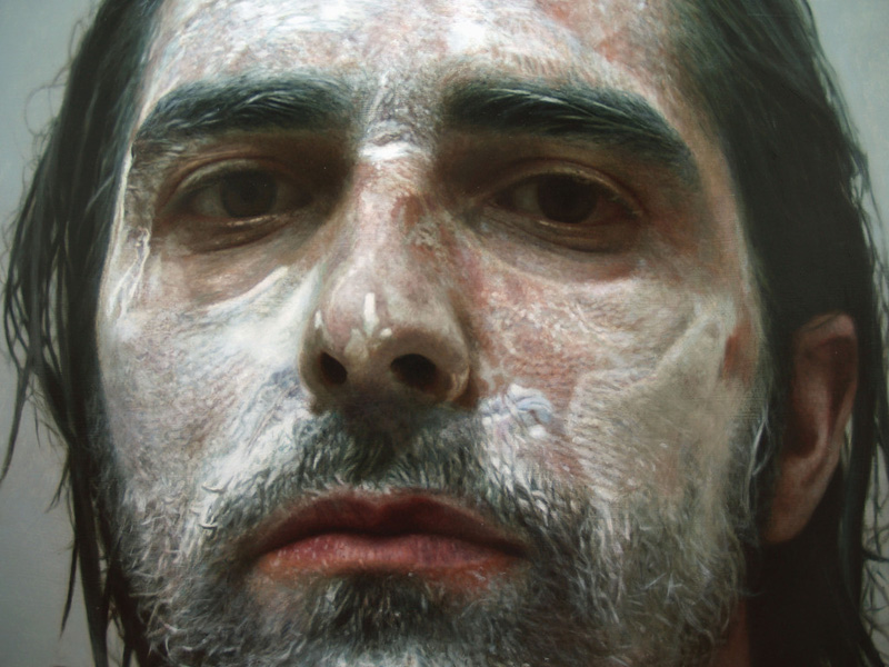 hyperrealistic self portraits paint on face by eloy morales (3)