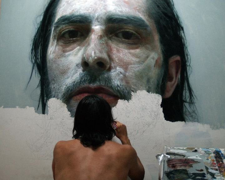 hyperrealistic self portraits paint on face by eloy morales (7)