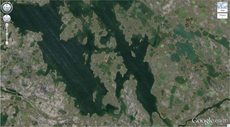 island lake island 50 Amazing Finds on Google Earth