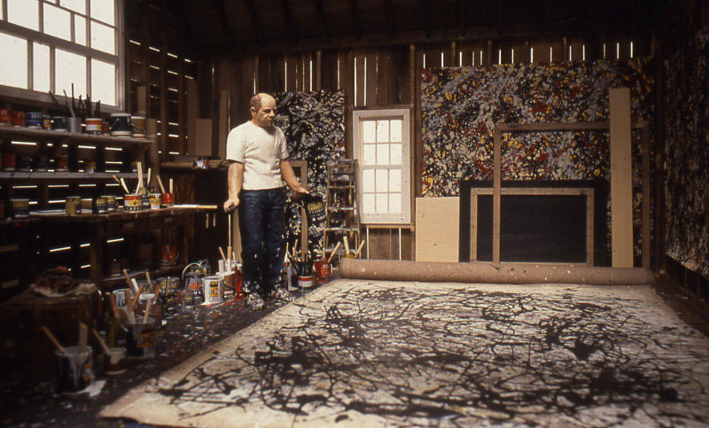 jackson pollock miniature model diorama by joe fig cover2 Famous Portraits Recreated from Recycled Materials and Found Objects