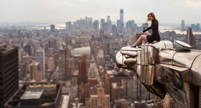 lucinda granges atop chrysler building eagle new york city by alex shaw
