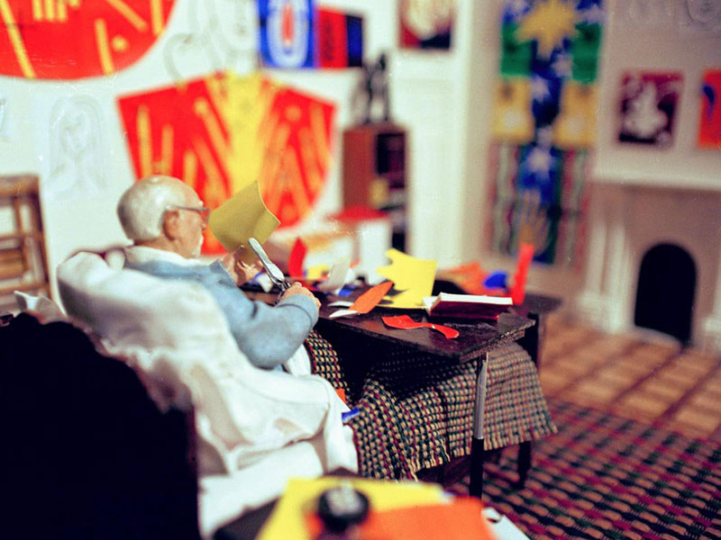 matisse in studio miniature model diorama by joe fig