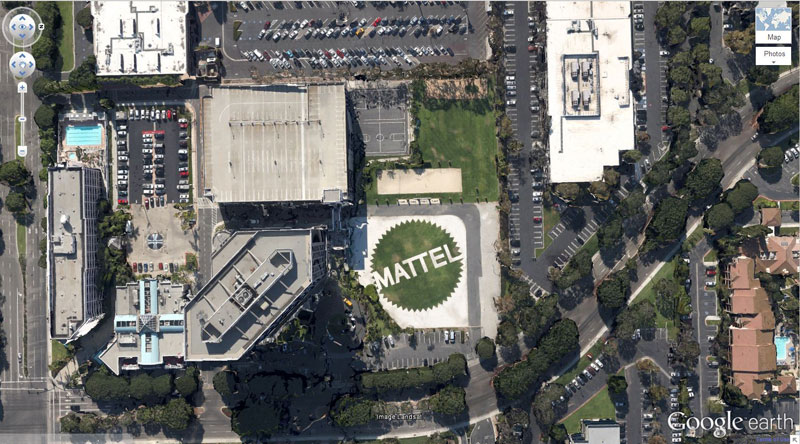 Mattel-logo google earth