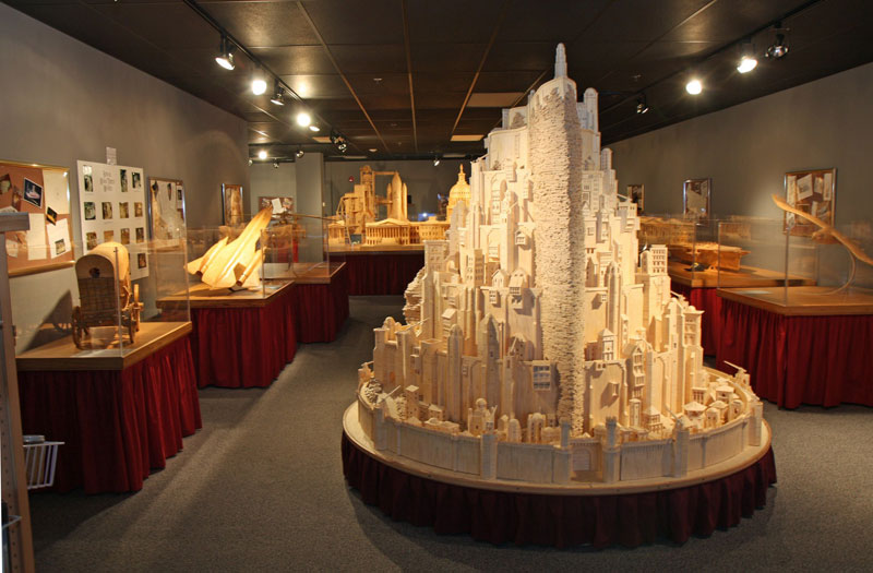 minas tirith made from matchsticks by pat acton matchstick marvels (3)
