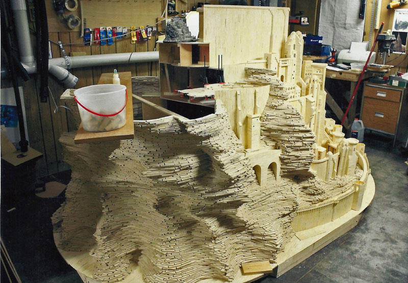 minas tirith made from matchsticks by pat acton matchstick marvels (4)