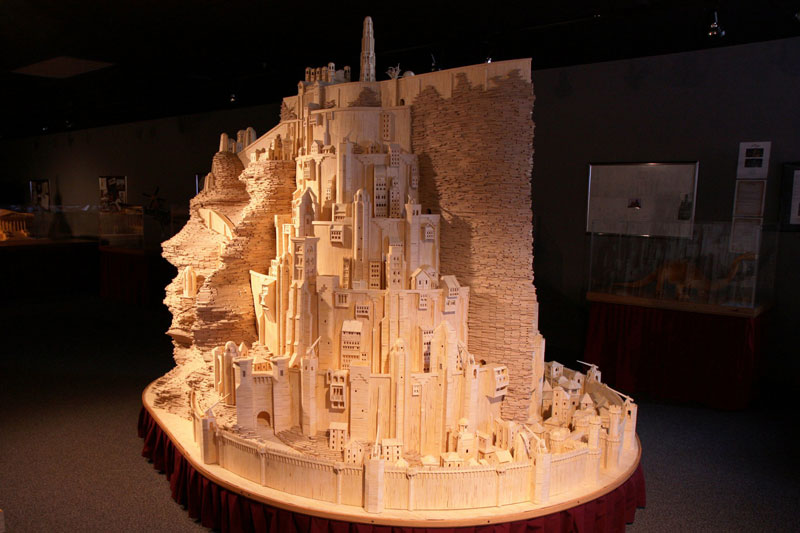 minas tirith made from matchsticks by pat acton matchstick marvels 6 Staple Metropolises by Peter Root